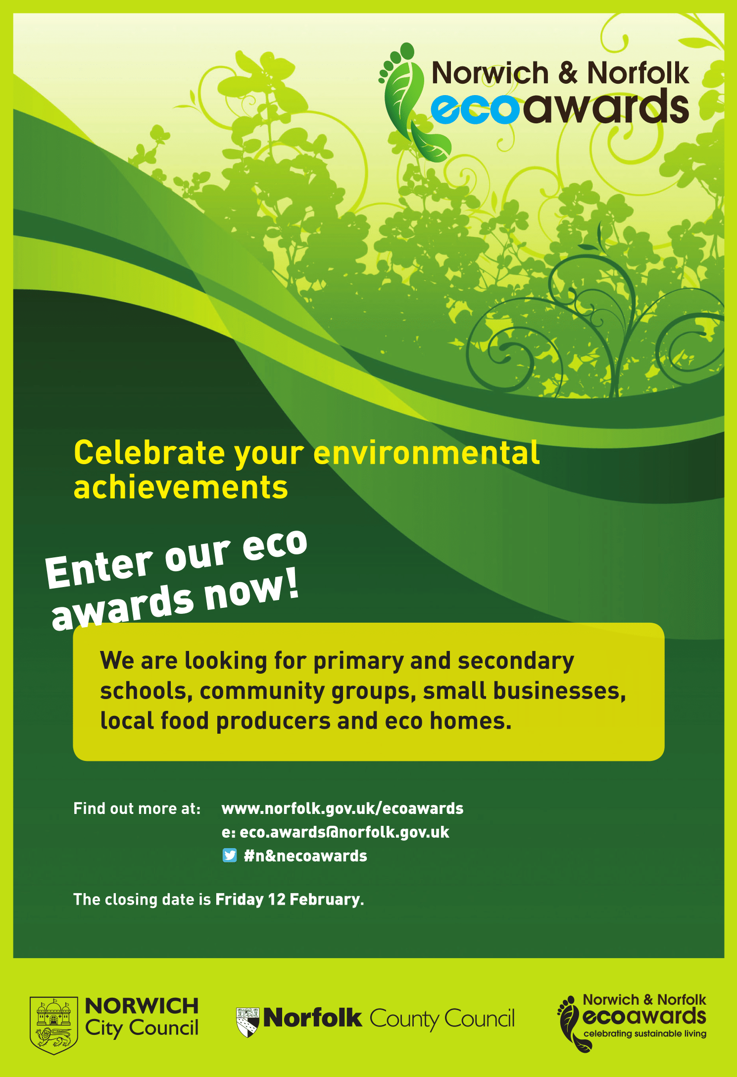 N & N Eco awards 2015-16 Poster